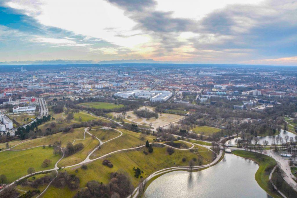 ミュンヘン_オリンピア公園_Munich_Olympiapark_俯瞰撮影