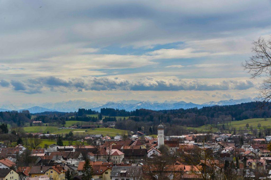 ミュンヘン郊外の俯瞰景色