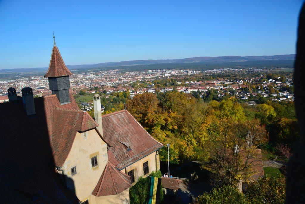赤い屋根の歴史ある世界遺産のバンベルク