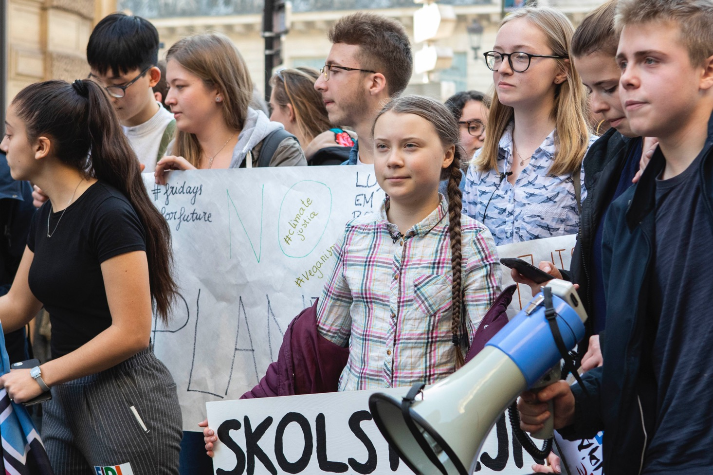 Greta Thunberg in Paris for climate demonstration